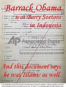Obama Indonesian Document
